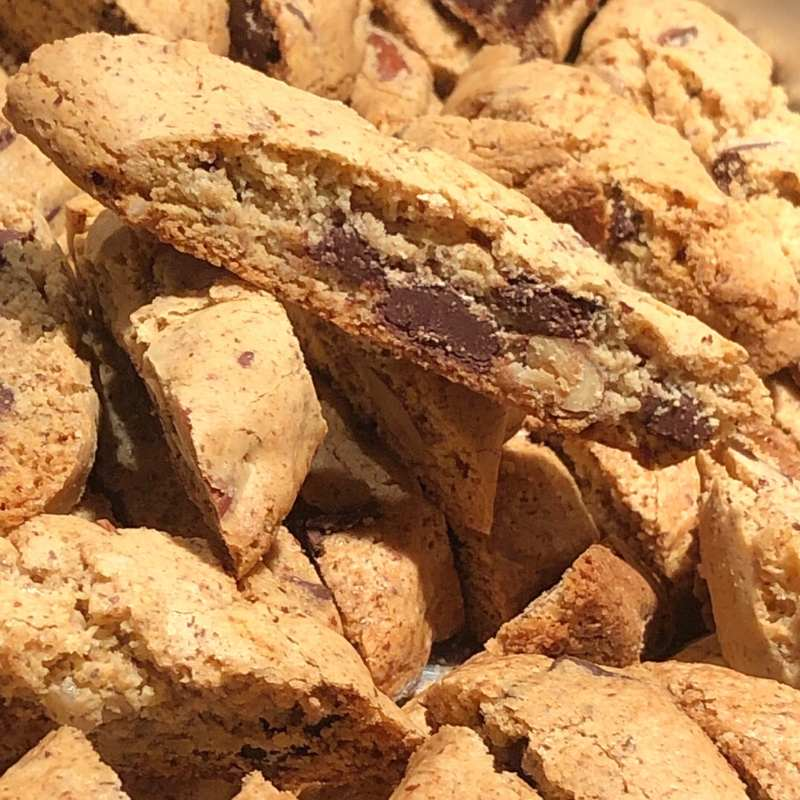 Chocolate almond biscotti with hint of orange