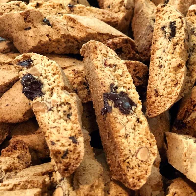 dark chocolate orange almond biscotti