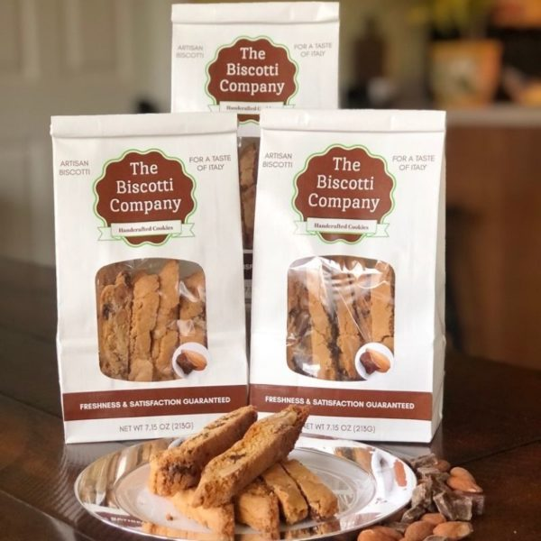 chocolate almond biscotti 3pk